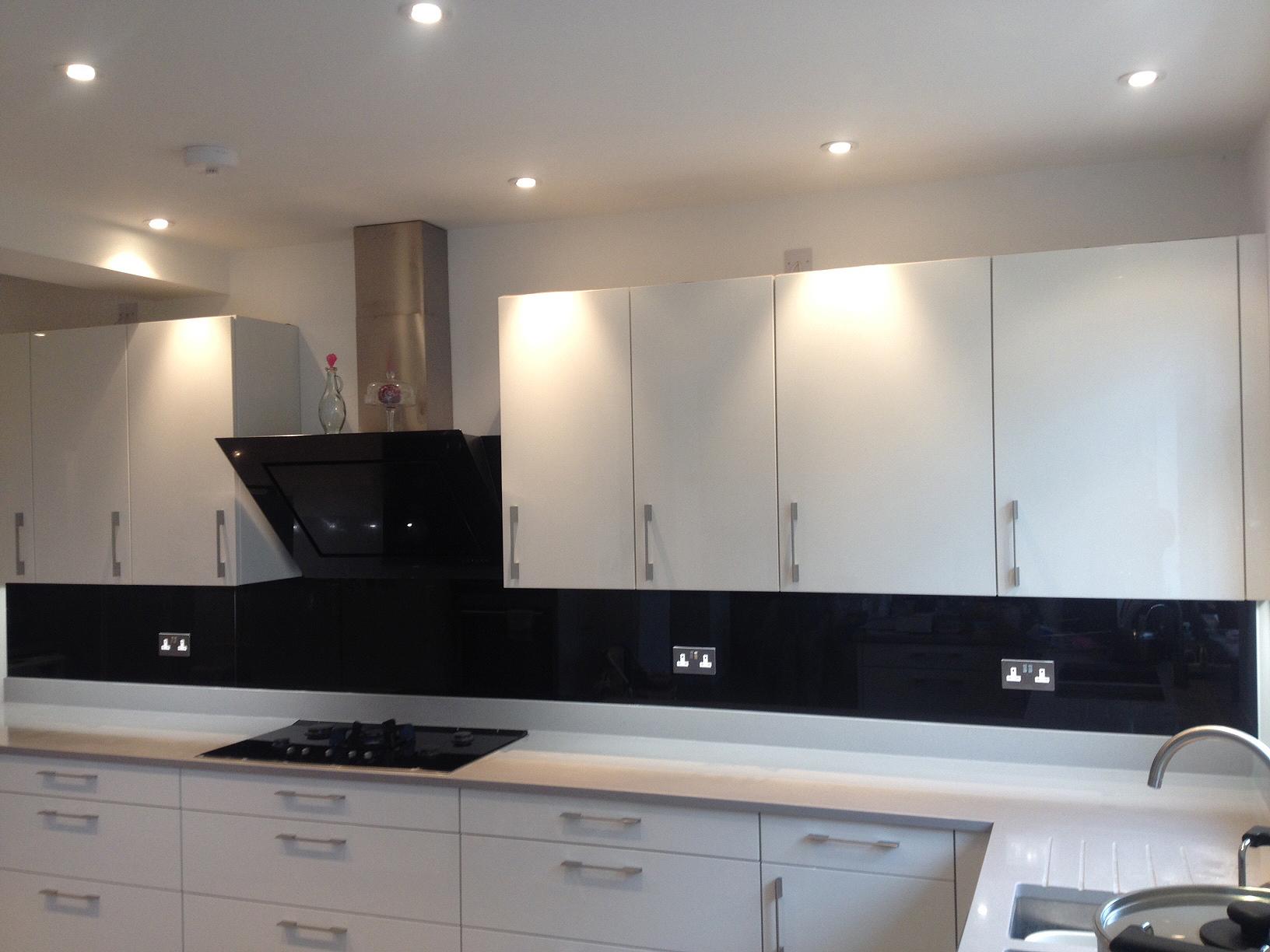 Black White And Orange Kitchen