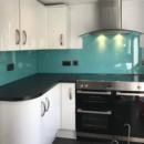 brightly coloured glass splashbacks aqua kitchen 3