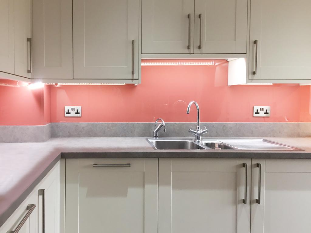 Coloured glass splashback bespoke colour match s3040-y90r kitchen