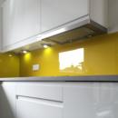 brightly coloured glass splashbacks bespoke colour match sun dust kitchen 2