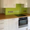 brightly coloured glass splashbacks bespoke ncs colour match kitchen