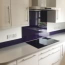 darker coloured glass splashbacks blackcurrant colour kitchen 2