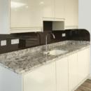 darker coloured glass splashbacks conker colour kitchen
