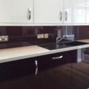 darker coloured glass splashbacks bespoke colour match sample 814 kitchen