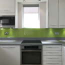 brightly coloured glass splashbacks lime green kitchen 3