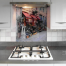Printed glass splashback streetscape bespoke print