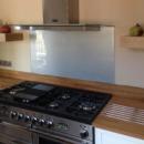 Metallic and Sparkle coloured glass splashback - Silver glitter glass splashbacks kitchen 2