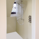 oyster coloured glass shower panels