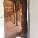 printed shower panels of amber fort in india.