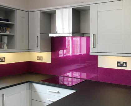 Kitchen makeover ideas: metallic vs sparkle glass