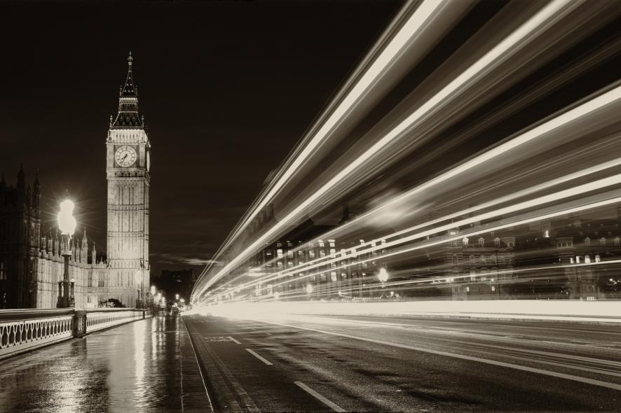 Black And White Big Ben London