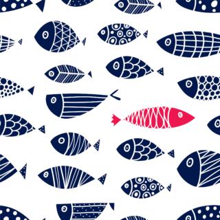 Cute Fish Print