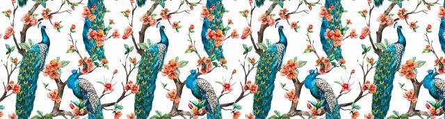 Wallpaper designs on Printed glass splashbacks